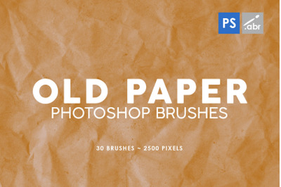 30 Old Paper Photoshop Stamp Brushes 1