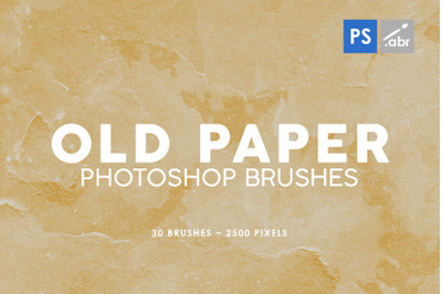 30 Old Paper Photoshop Stamp Brushes 2