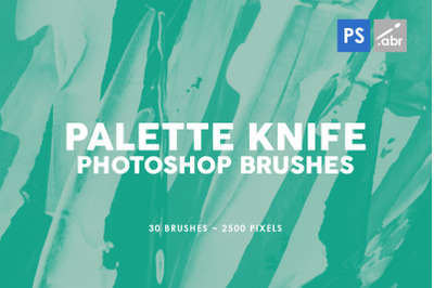 30 Palette Knife Photoshop Stamp Brushes 1
