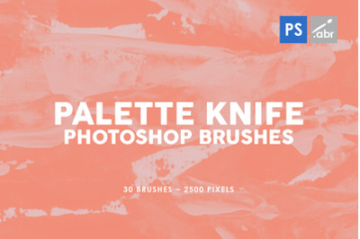 30 Palette Knife Photoshop Stamp Brushes 2