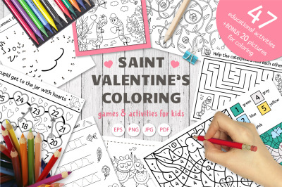 Saint Valentine Coloring Games