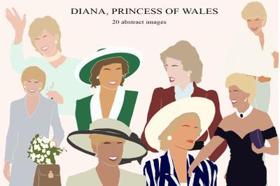ABSTRACT Diana Princess vector