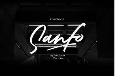 Sanfo Brush Font