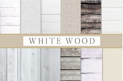White wood, wood textures