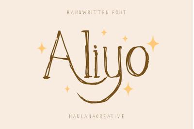 Aliyo Handwritten Font