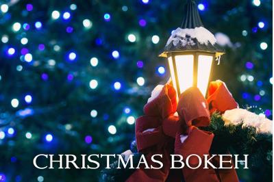80 Bokeh Christmas overlays