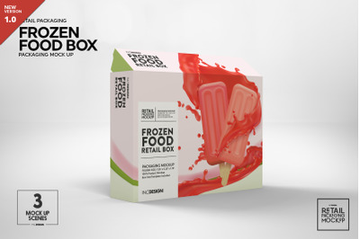 Thin Frozen Food Box Packaging Mockup