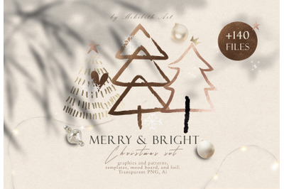 CHRISTMAS set Merry and Bright