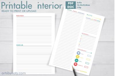 Plan your blog posts KDP printable journal.
