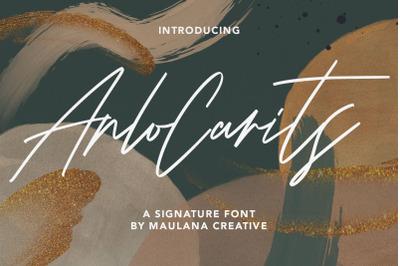 Arlo Carits Signature Font