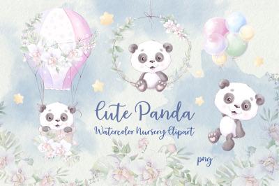Nursery clipart Cute Panda