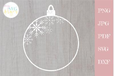 Christmas monogram svg, Christmas ornament svg, Christmas svg