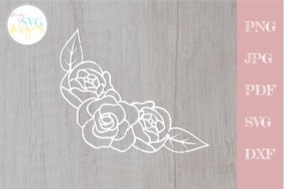 Flower border svg, Rose svg, Rose border svg