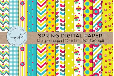 Spring Digital Paper Pattern, Background Pattern