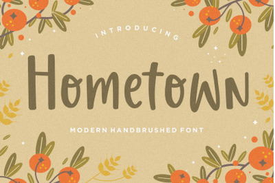 Hometown Modern Handbrushed Font