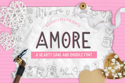 Amore - Hearty Sans and Doodle Valentines Font