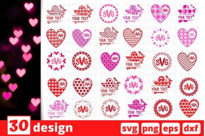Valentine monogram SVG Bundle