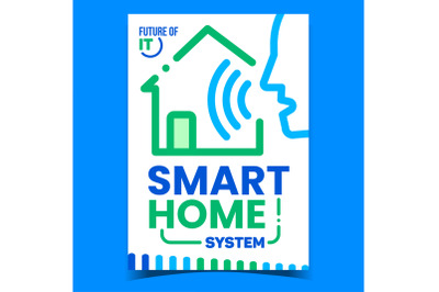 Smart Home System Creative Promo Banner Vector