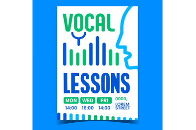 Vocal Lessons Creative Promotion Banner Vector