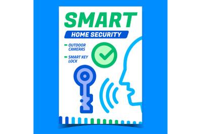 Smart Home Security Creative Promo Banner Vector
