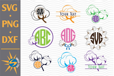 Cotton Monogram SVG, PNG, DXF Digital Files Include