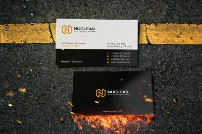 nuclear business card