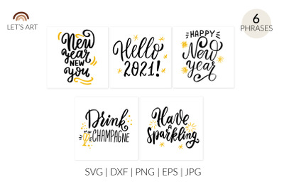 Happy New year cards svg. New Years eve. Hello 2021 svg. Drink champag