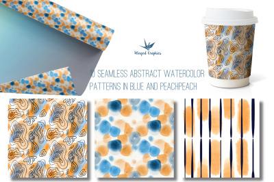 Seamless watercolor patterns : 10