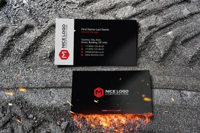 m hexagon business card
