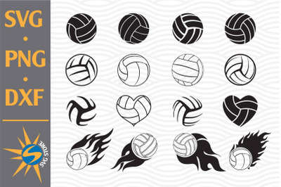 Volleyball SVG, PNG, DXF Digital Files Include