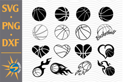 Basketball SVG, PNG, DXF Digital Files Include