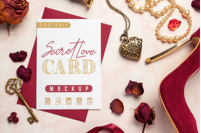 Secret Love Card Mockup