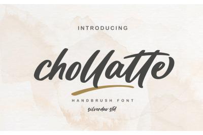 Chollatte - Handbrush Font