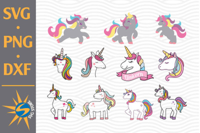 Unicorn SVG, PNG, DXF Digital Files Include