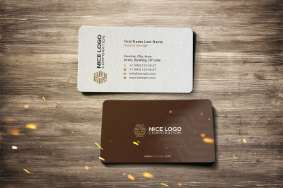 parquet business card