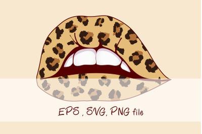 Cheetah lips design