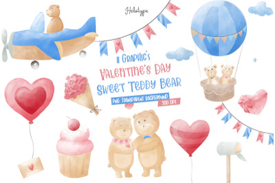 Valentines Day Sweet Teddy Bear Clipart