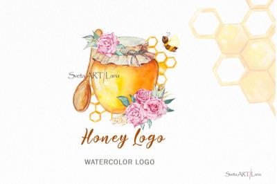 Honey Bee Premade  Logo, Bumble Bees