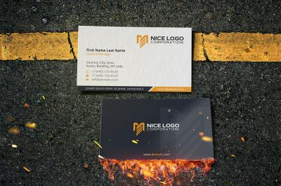 me logo business card