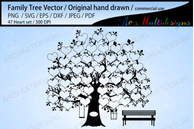 Family tree 47 spots template