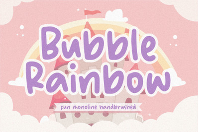 Bubble Rainbow Fun Monoline Handbrushed Font