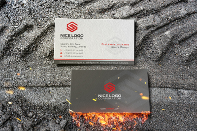letter s business card