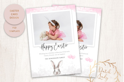 PSD Easter Photo Card Template #4