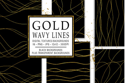 Gold Wavy Lines