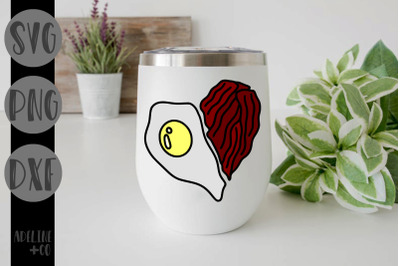 Bacon and eggs heart, Valentine's Day