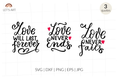 Love never ends svg. Bible quotes svg, Valentines day, chrisitan shirt