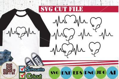 Nurse Monogram Bundle SVG Cut File