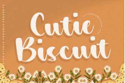 Cutie Biscuit Cutie Modern Script Font
