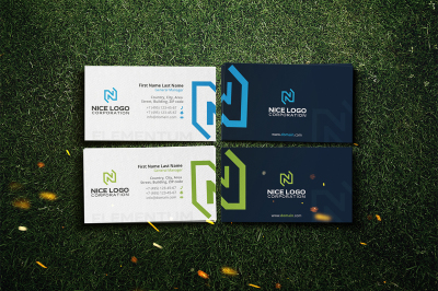 n letter business card