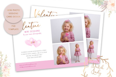 PSD Photo Session Card Template #72
